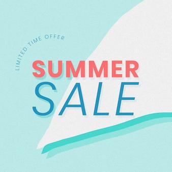 Tijdelijke aanbieding zomer sale