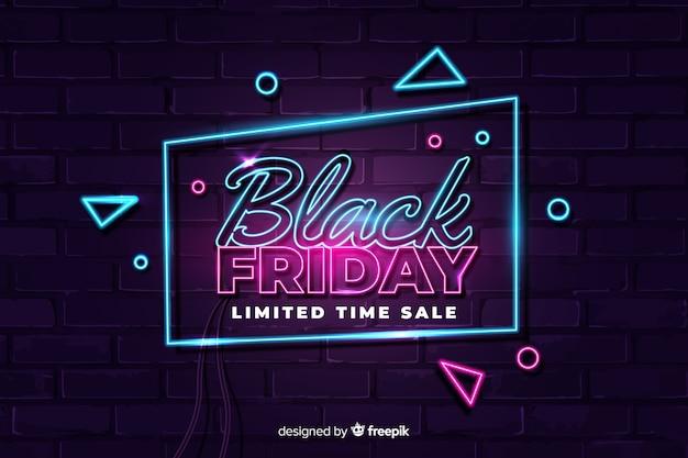 Tijdelijke verkoop in zwarte stijl in neonstijl