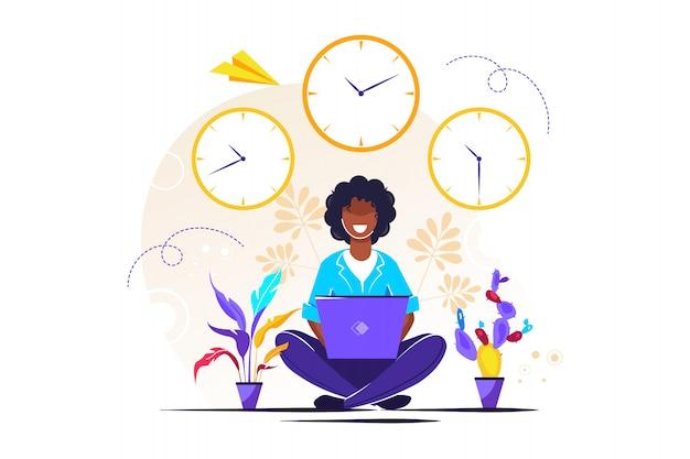 Tijdens werktijd, pauze, gezondheidsvoordelen