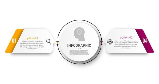 Tijdlijn cirkel grafiek infographic