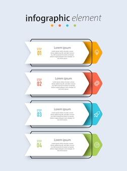 Tijdlijn grafieksjabloon infographic
