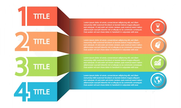 Tijdlijn infographic 4 opties,