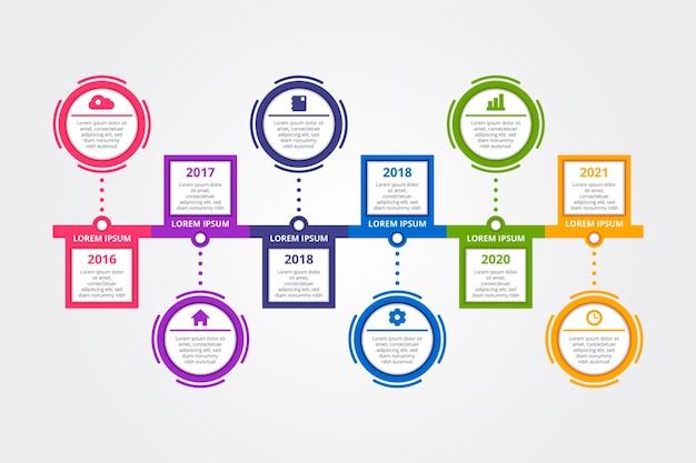 Tijdlijn infographic collectie