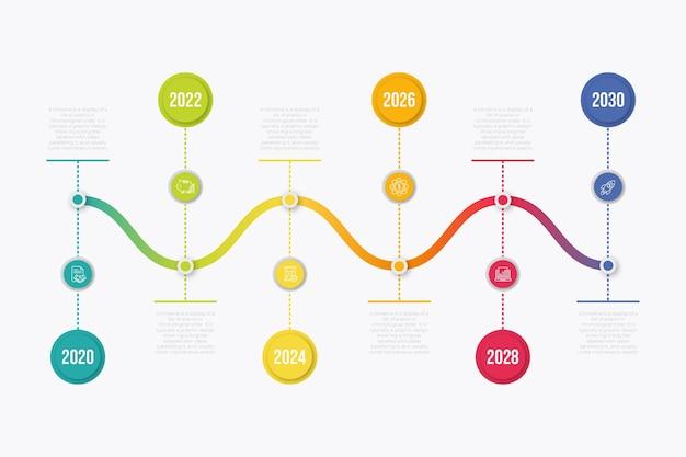 Tijdlijn infographic collectieontwerp