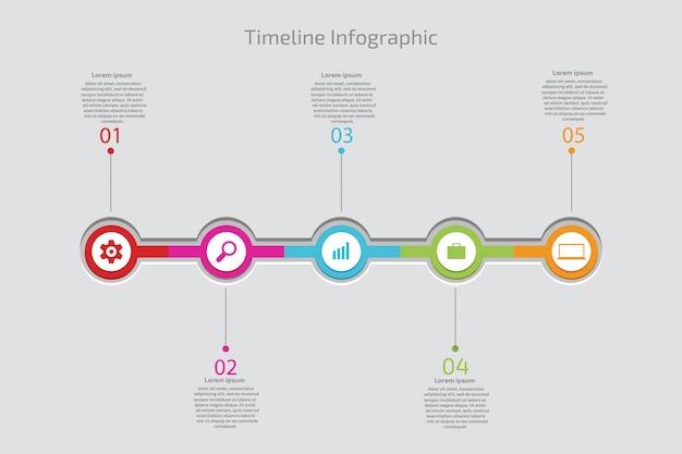 Tijdlijn infographic concept. vector sjabloon.