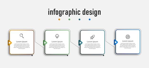Tijdlijn infographic element verzamelen sjabloon
