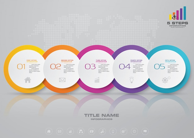 Tijdlijn infographic element.