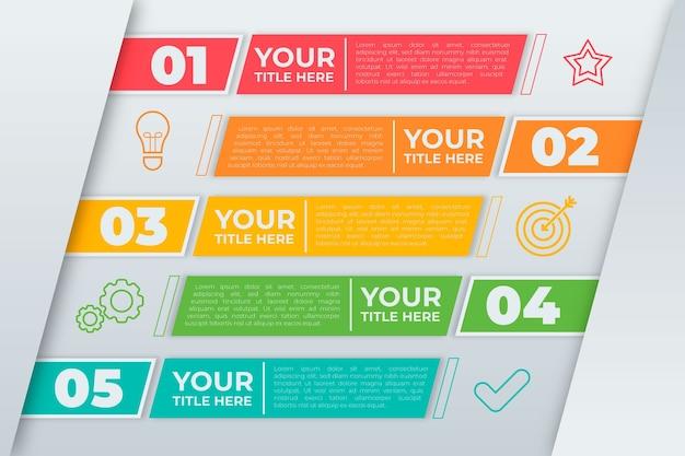 Tijdlijn infographic evolutie concept