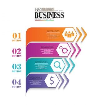 Tijdlijn infographic-gegevens visualisatie ontwerpsjabloon