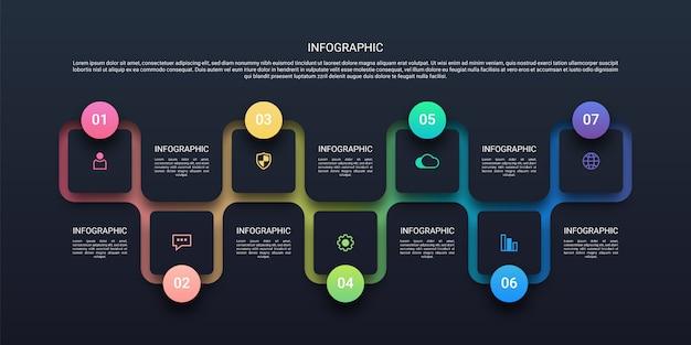 Tijdlijn infographic illustratie
