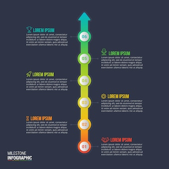 Tijdlijn infographic ontwerp vector voor bedrijfsgegevens visualisatie