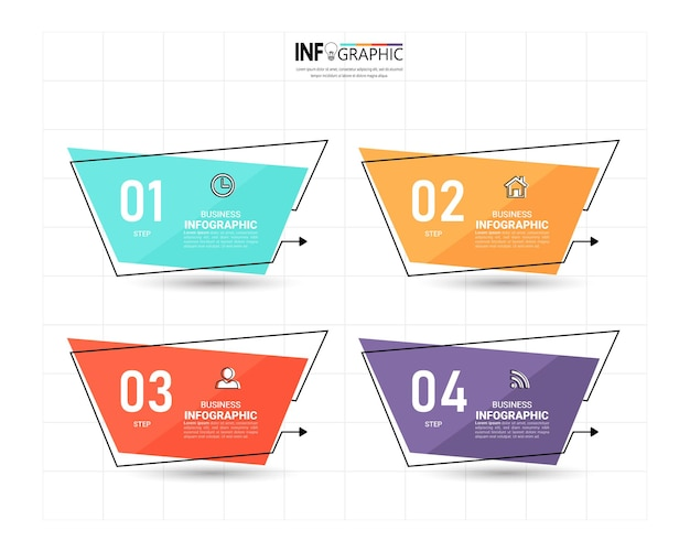 Tijdlijn infographic ontwerpsjabloon.