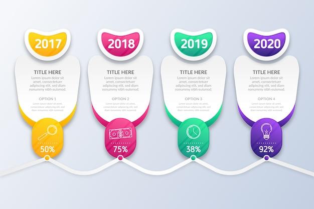Tijdlijn infographic presentatieconcept