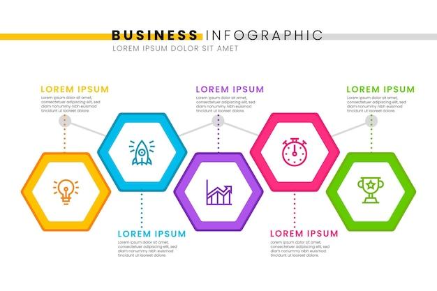 Tijdlijn infographic sjabloon stijl