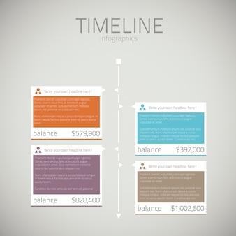 Tijdlijn infographic sjabloon vector