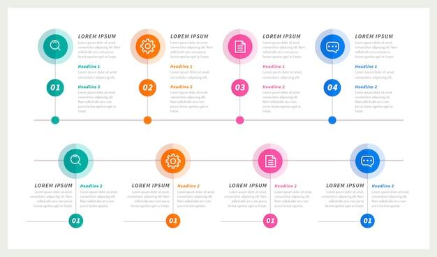 Tijdlijn infographic sjabloon