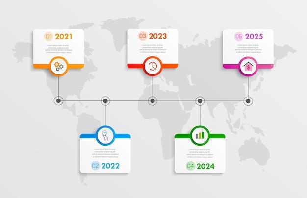 Tijdlijn infographic sjabloonontwerp