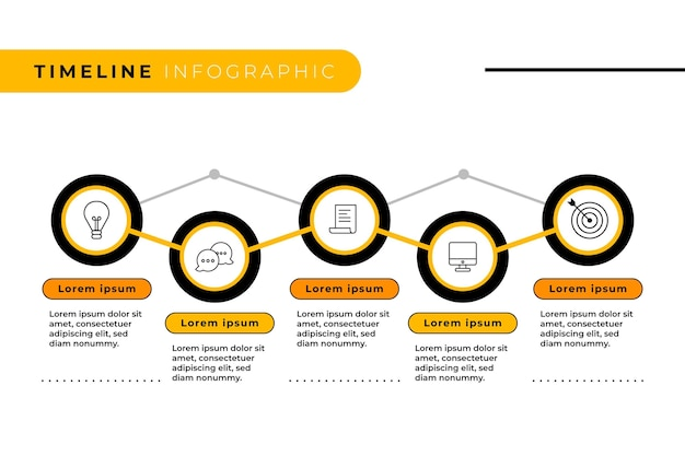 Tijdlijn infographic stijl