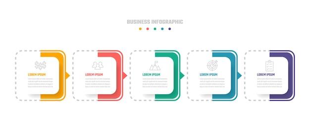 Tijdlijn infographic vector ontwerp, illustratie