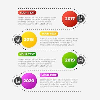 Tijdlijn infographic verzameling sjabloon