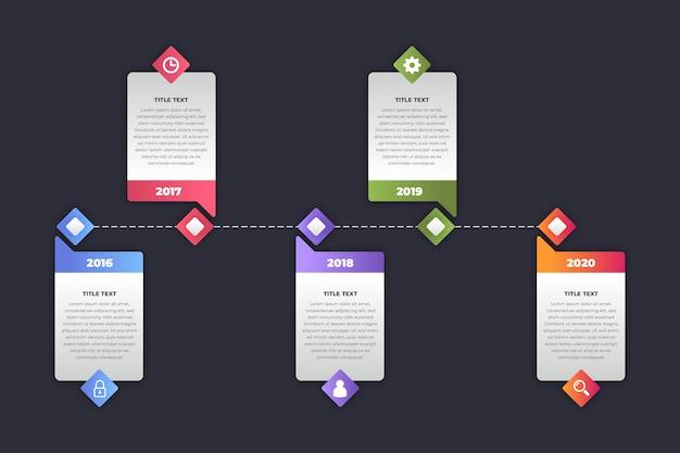 Tijdlijn infographic verzameling thema