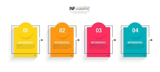Tijdlijn infographic voor presentatiesjabloon