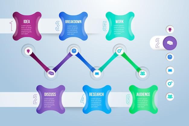Tijdlijn infographic vooruitgang concept
