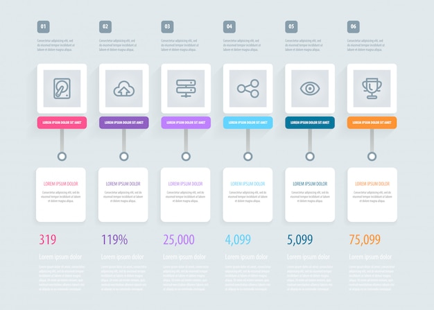 Tijdlijn infographic.