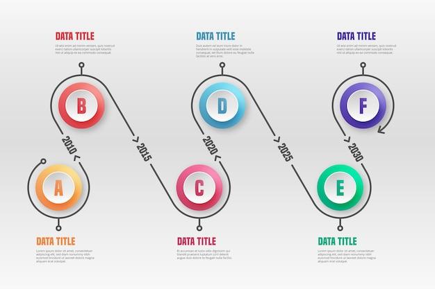 Tijdlijn infographic