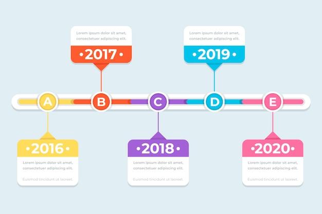Tijdlijn infographics concept