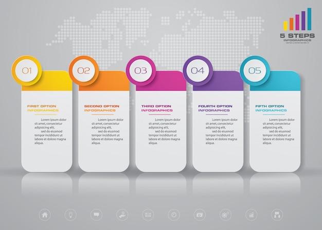 Tijdlijn infographics element