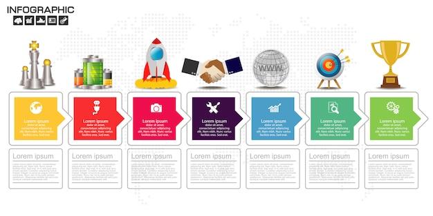Tijdlijn infographics ontwerpsjabloon
