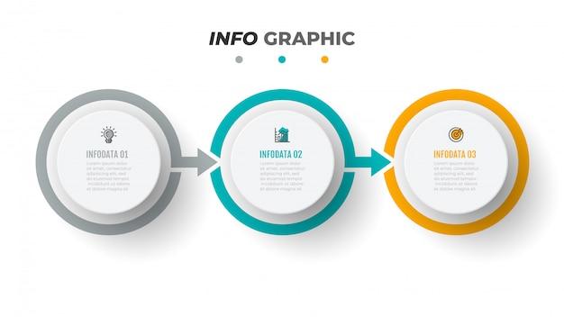 Tijdlijn infographics sjabloon