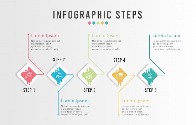 Tijdlijn infographics