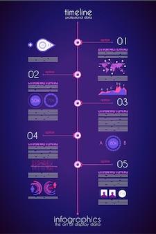 Tijdlijn om uw gegevens weer te geven met infographic-element