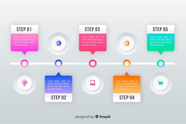 Tijdlijn professionele infographic
