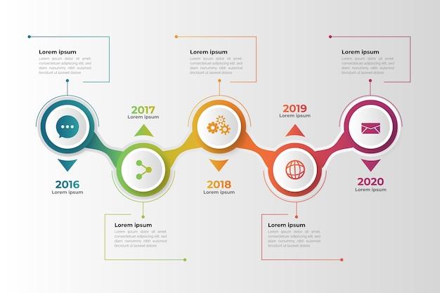 Tijdlijn verloop zakelijke infographic