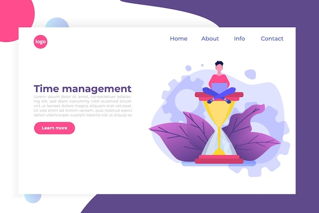 Tijdmanagementconcept, app voor bedrijfsplanning.
