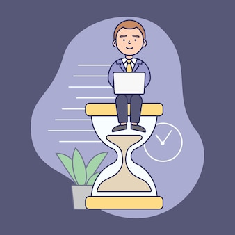 Tijdmanagementconcept. succesvolle zakenman