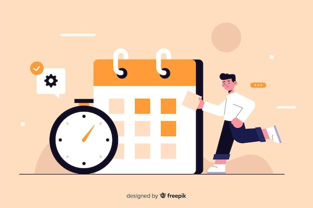 Tijdmanagementconcept voor bestemmingspagina