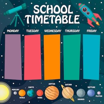 Tijdschema voor de ruimte