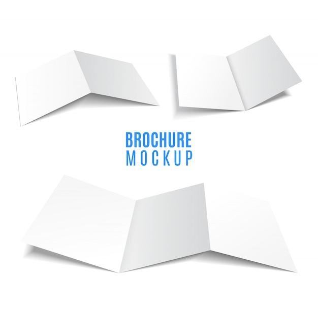 Tijdschrift, boekje, briefkaart, flyer, zakelijke 3d kaart of brochure sjabloon set.