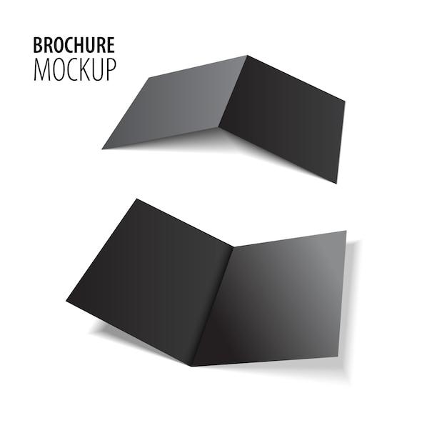 Tijdschrift, boekje, briefkaart, flyer, zakelijke 3d zwarte kaart of brochure sjabloon.