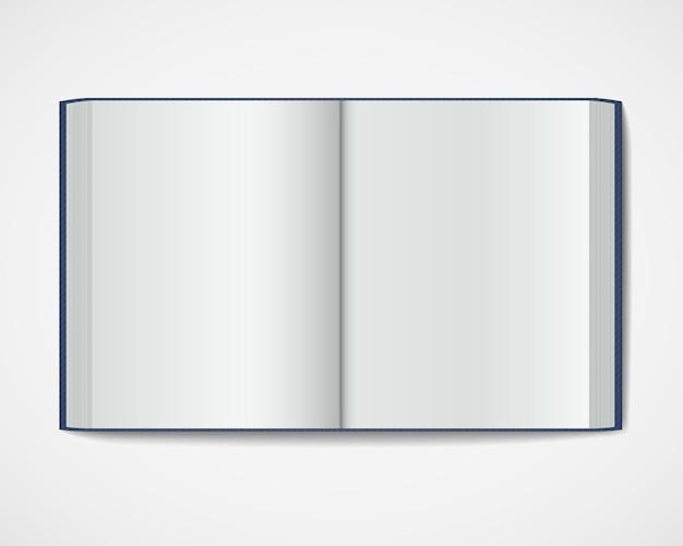 Tijdschrift hardcover op witte achtergrond