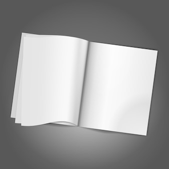 Tijdschrift lege pagina achtergrond sjabloon.