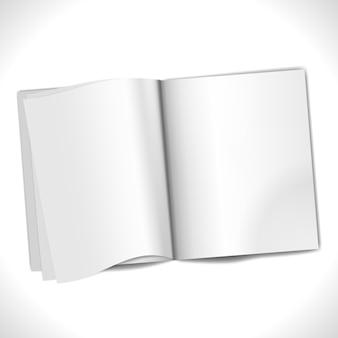 Tijdschrift met blanco pagina's