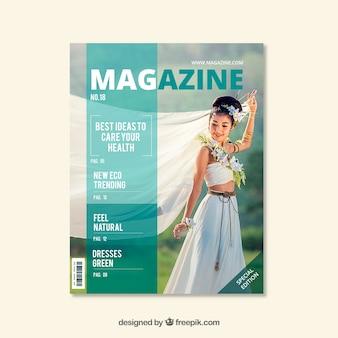 Tijdschrift met de natuur concept
