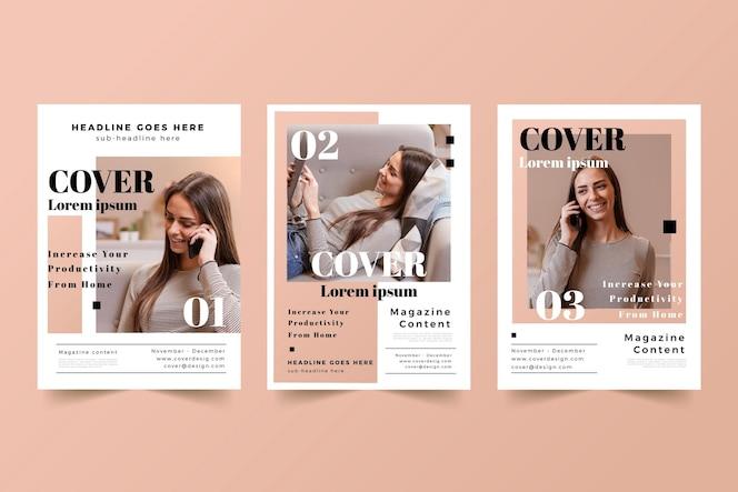 Tijdschriftcover set met foto