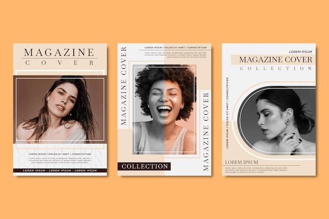 Tijdschriftcovercollectie met foto