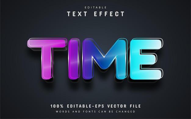 Tijdtekst, kleurrijk teksteffect bewerkbaar